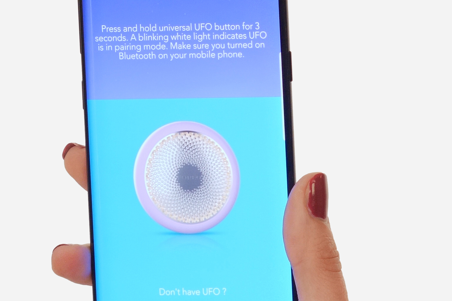 How-To-Use-Foreo-UFO-Device-App