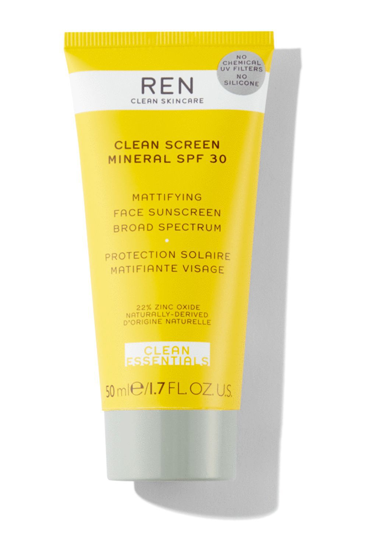 Ren Clean Screen Mattifying Face Sunscreen SPF 30