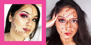 21 half-face halloween makeup ideas that are perfectly extra