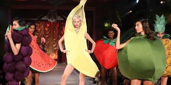 Here Are Some Models Wearing Sexy Fruit Costumes at London Fashion Week