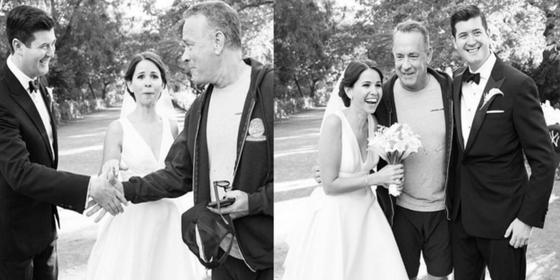 Tom Hanks Casually Photobombed This Random Couple's Wedding