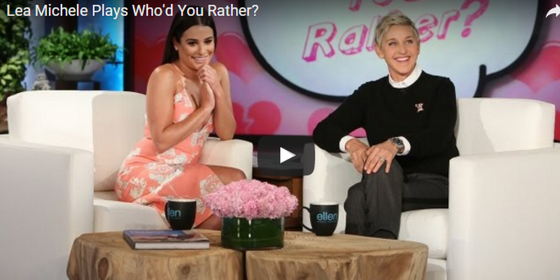 "Lea Michele Plays ""Who'd You Rather,"" Confirms the Power of Zac Efron's Hotness"