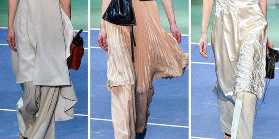 Is the '90s Dress-Over-Trousers Trend Becoming a Thing Again?