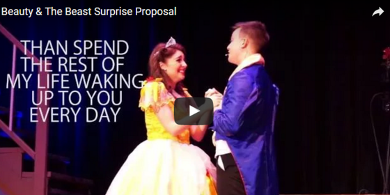 """This """"Beauty and the Beast"""" Proposal Will Seriously Destroy Your Mascara"""