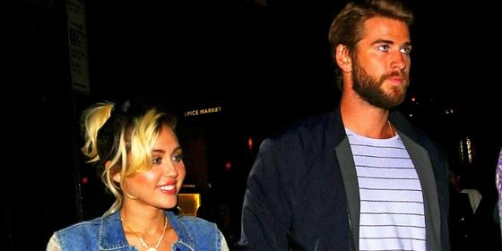 Miley Cyrus and Liam Hemsworth Just Made Their First Public Appearance in Three Years!