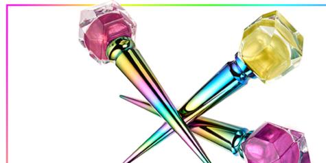 What Louboutin's Chrome Unicorn Nail Polishes Look Like On