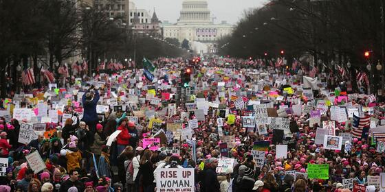 """""""Welcome to your first day, we will not go away"""" #WomensMarch"""