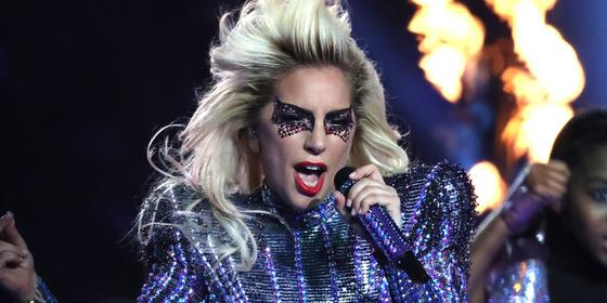 Lady Gaga Wore Dhs3,000 Worth Of Make-up On Her Face For The Super Bowl