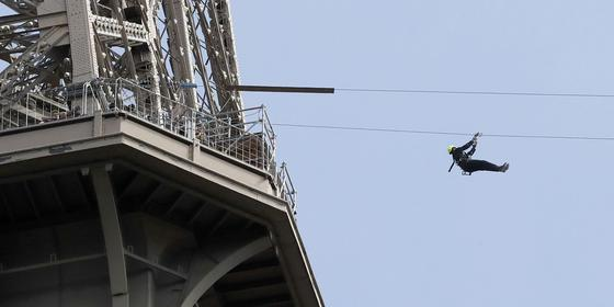 You Can Now Zip Line Off The Eiffel Tower, And It Looks Terrifying