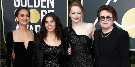 All Of The Stars In Black At The 2018 Golden Globes