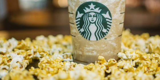 Starbucks Just Dropped A Caramel Popcorn Frappuccino And We Can't Get Enough
