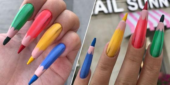 WHAT? Now Colored Pencil Nails Exist?!