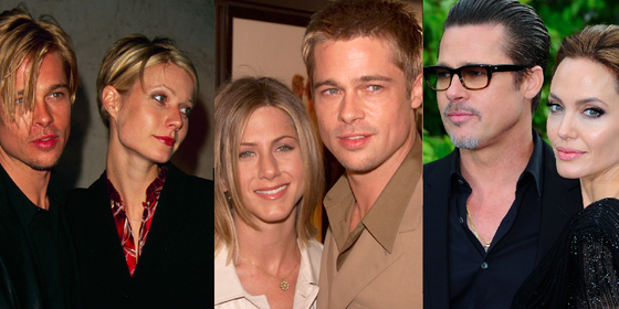 Someone Noticed That Brad Pitt Keeps Morphing Into His Girlfriends