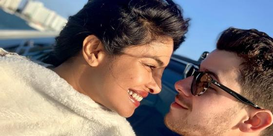 Please Enjoy This Video of Priyanka Chopra Legit Falling Down The Stairs Into Nick Jonas