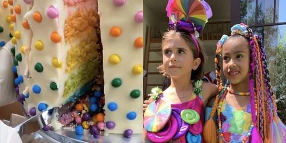 """The Kardashians Just Threw North West And Penelope Disick A Massive """"Candy""""-Themed Joint Birthday Party"""