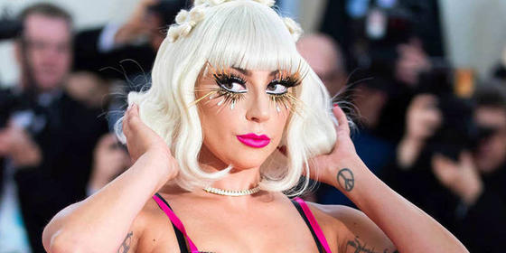 Lady Gaga Is A Marshmallow Dream With Her Pink Hair And Dress For BFF's Wedding