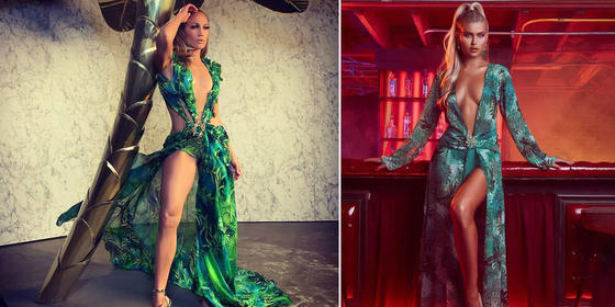 Yikes, Versace Is Suing Fashion Nova For Ripping Off Jennifer Lopez's Grammys Dress