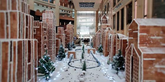 Check Out This Gingerbread And Belgian Chocolate Replica Of Sheikh Zayed Road!