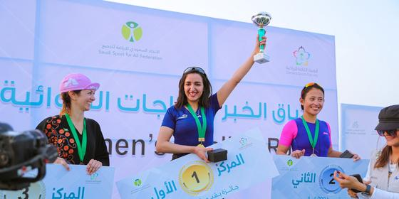 Saudi just held its first ever women's cycling race series