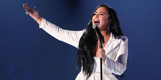 Watch Demi Lovato's emotional Grammy performance