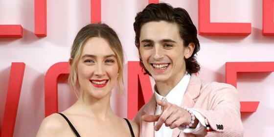 Greta Gerwig is basically trying to set up Timothée Chalamet and Saoirse Ronan