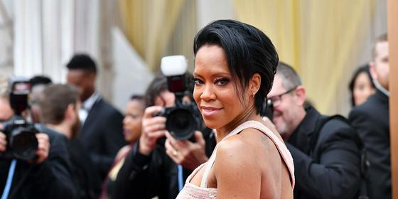 Regina King accessorised Versace with half a million dollars' worth of diamonds at the 2020 Oscars