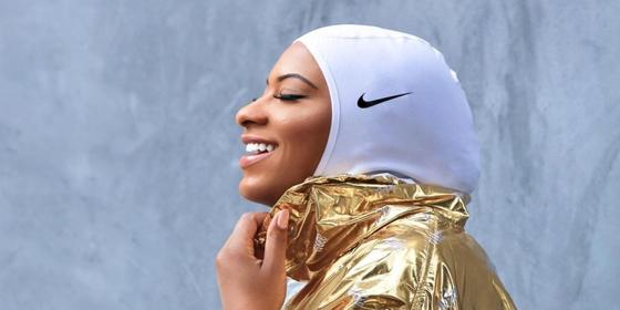 Olympic fencer Ibtihaj Muhammed just walked Nike's runway at NYFW autumn/winter 2020