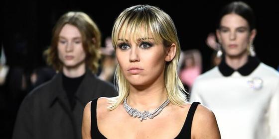Miley Cyrus walks the Marc Jacobs runway at New York Fashion Week