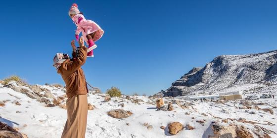 The Middle East and Saudi just dropped to the lowest temp ever