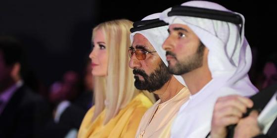 Ivanka Trump just hung out with Sheikh Mohammed and Sheikh Hamdan