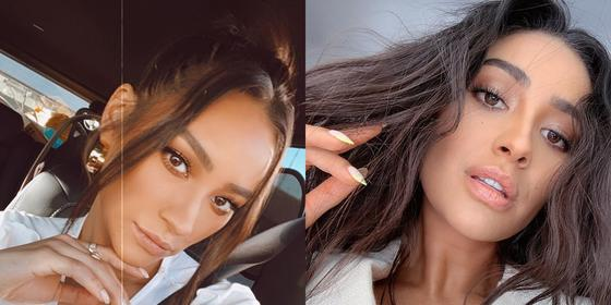 Shay Mitchell proves that make-up is def not her thing