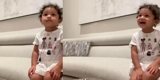 Kylie tried this viral challenge on Stormi and it is the cutest video we've ever seen