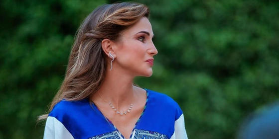 Queen Rania wears head-to-toe Arab designers for Jordan's Independence Day celebrations