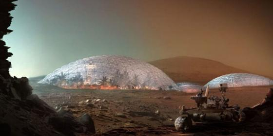 Architects have designed a Martian city in the desert just outside Dubai
