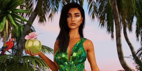 Exclusive: We take you behind-the-scenes on the making of Huda Beauty's new Glow Coco Hydrating Mist campaign