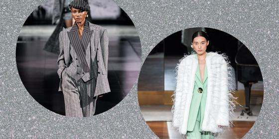 4 ways to style power suits like the F/W20 runways