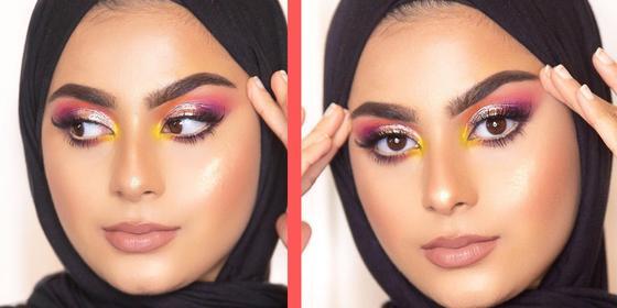 This Dubai-based MUA teaches us how to do a summery sunset-eye