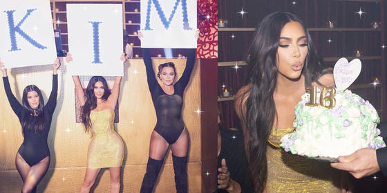 Kim Kardashian recreated all of her old birthday parties for her 40th