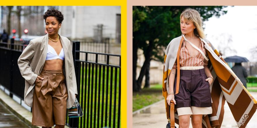 Hear me out: this baggy, long-shorts trend is actually super chic