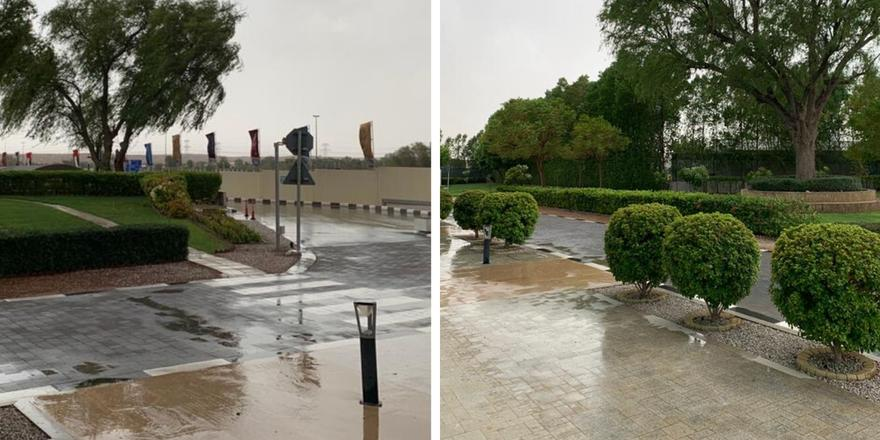 Yes, it's raining in Dubai in July!