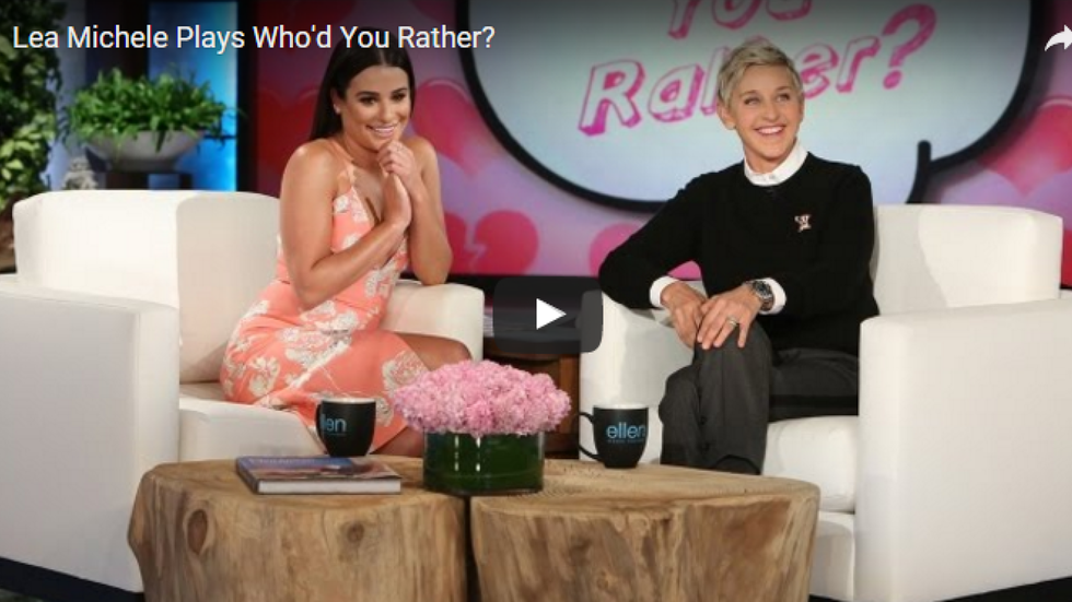 """Lea Michele Plays """"Who'd You Rather,"""" Confirms the Power of Zac Efron's Hotness"""