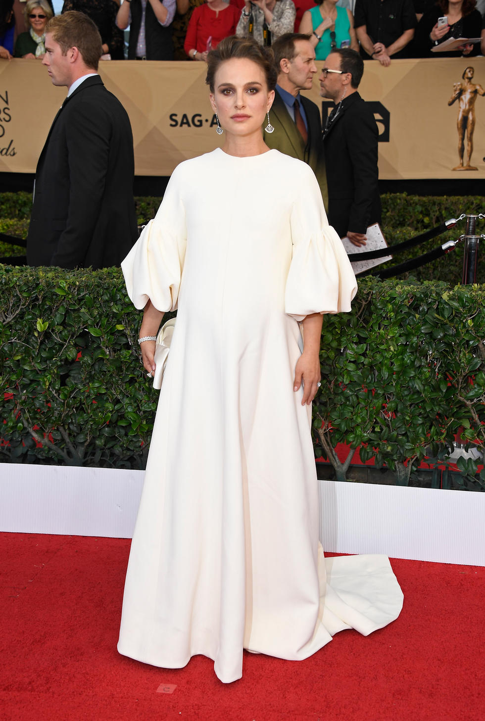 In Dior Haute Couture at the Screen Actors Guild Awards