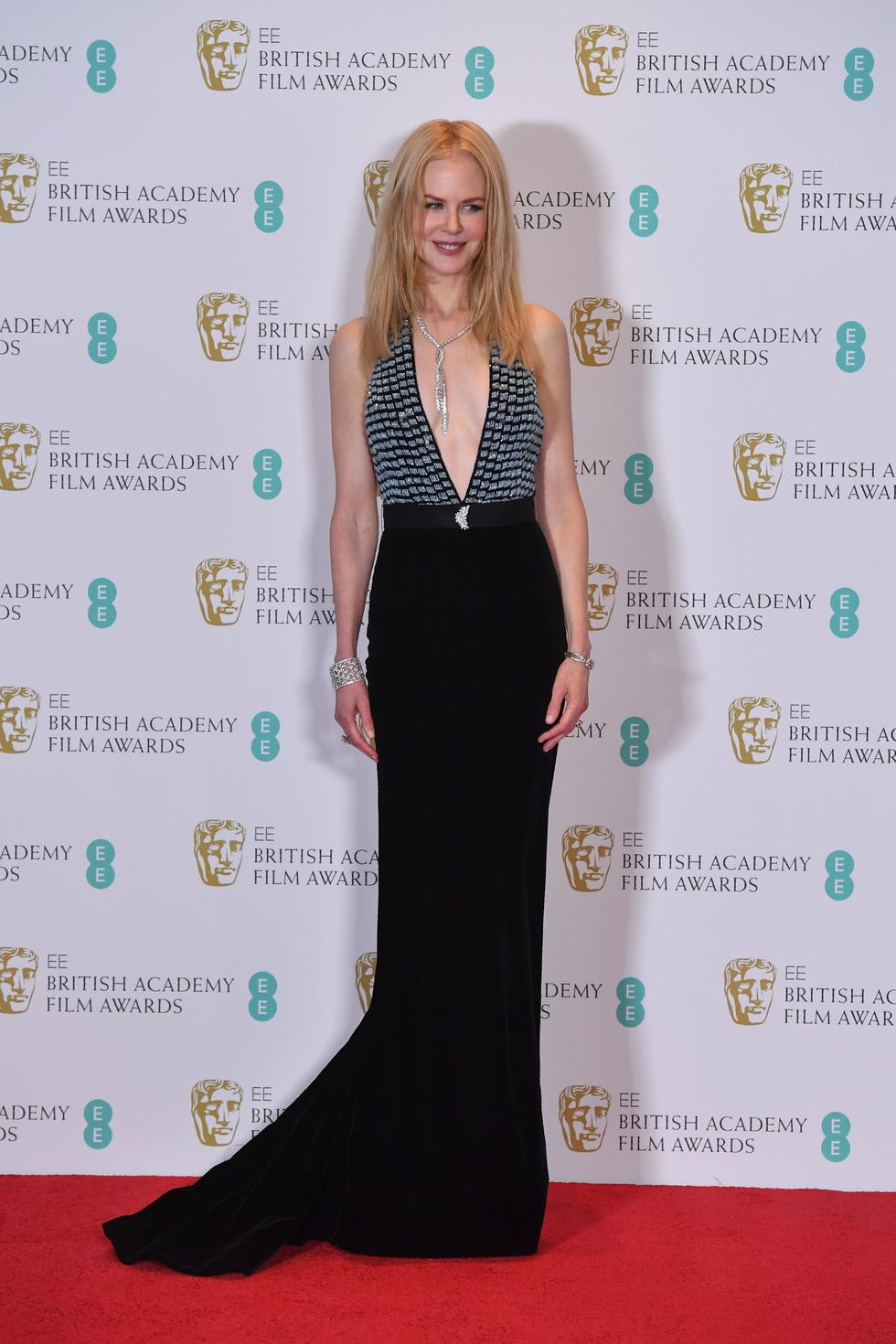 Australian actress at the BAFTA British Academy Film Awards in an Armani gown