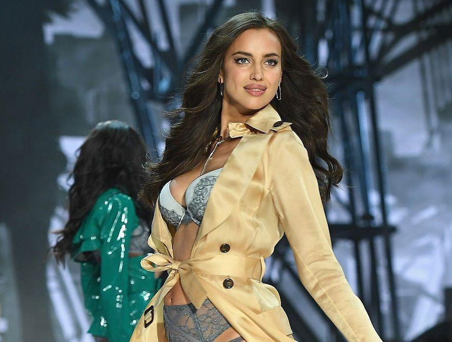 Only Irina Shayk can debut her bump on the Victoria's Secret show and still look flawless