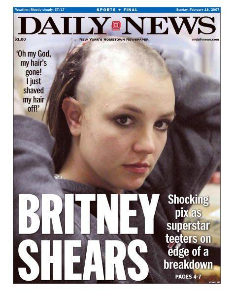 """We can't do a gallery of women who have shaved their heads without mentioning Britney Spears. In 2007 she shaved all of her hair off publicly amid a """"breakdown"""", which eventually led to the hospitalisation of the singer, as well as being placed under her father's conservatorship, which she is still under"""