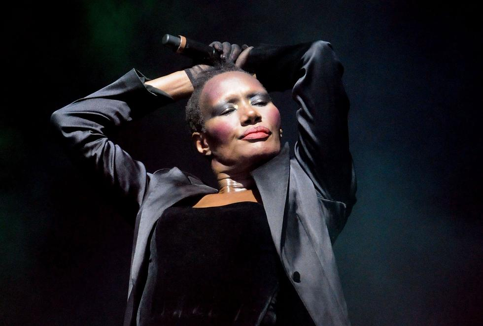 British simger Grace Jones is synonymous with her cropped hair