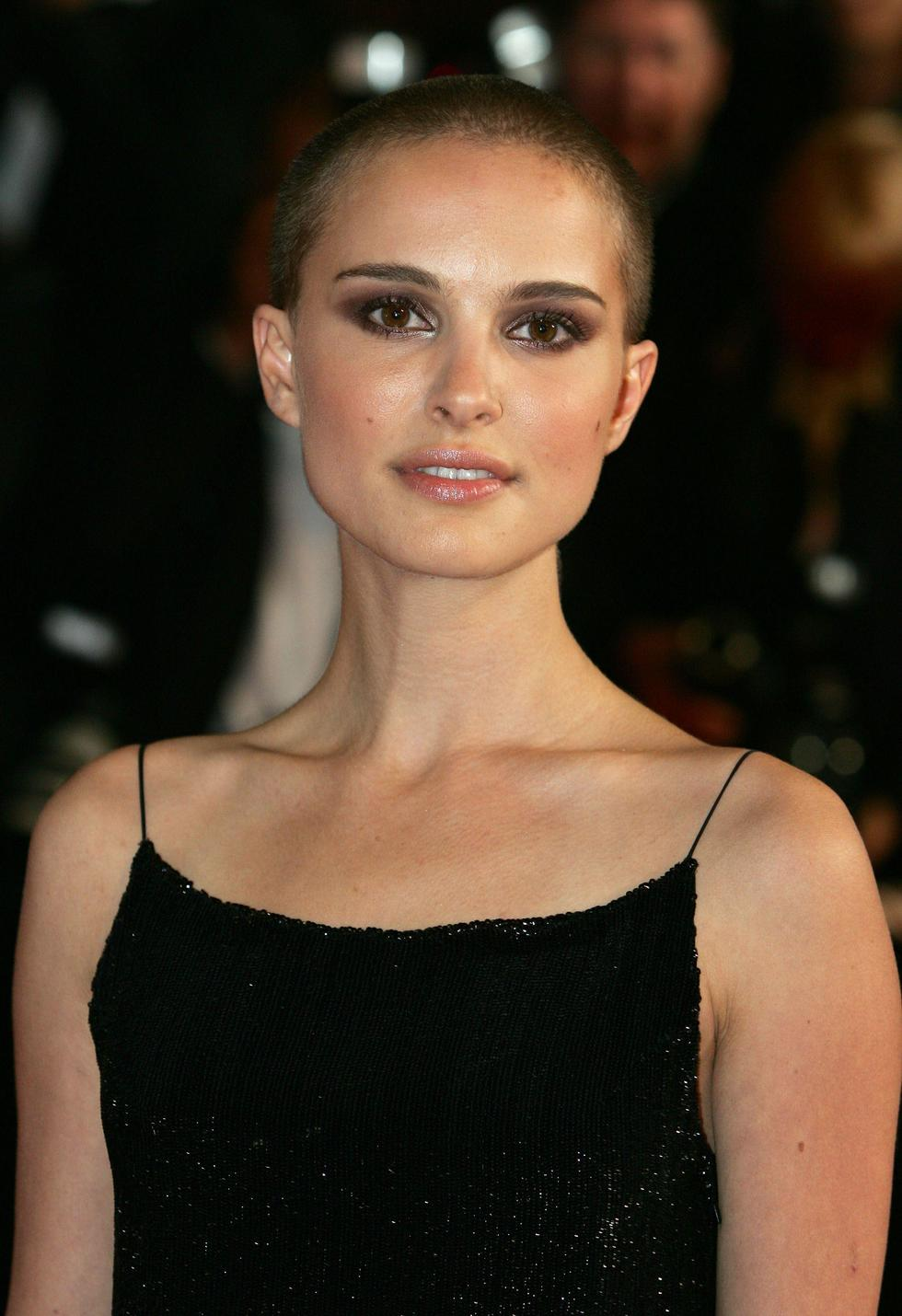 Potentially the most famous woman to have gone for a buzz cut, Natalie Portman shaved her hair off for 'V For Vendetta' in 2006