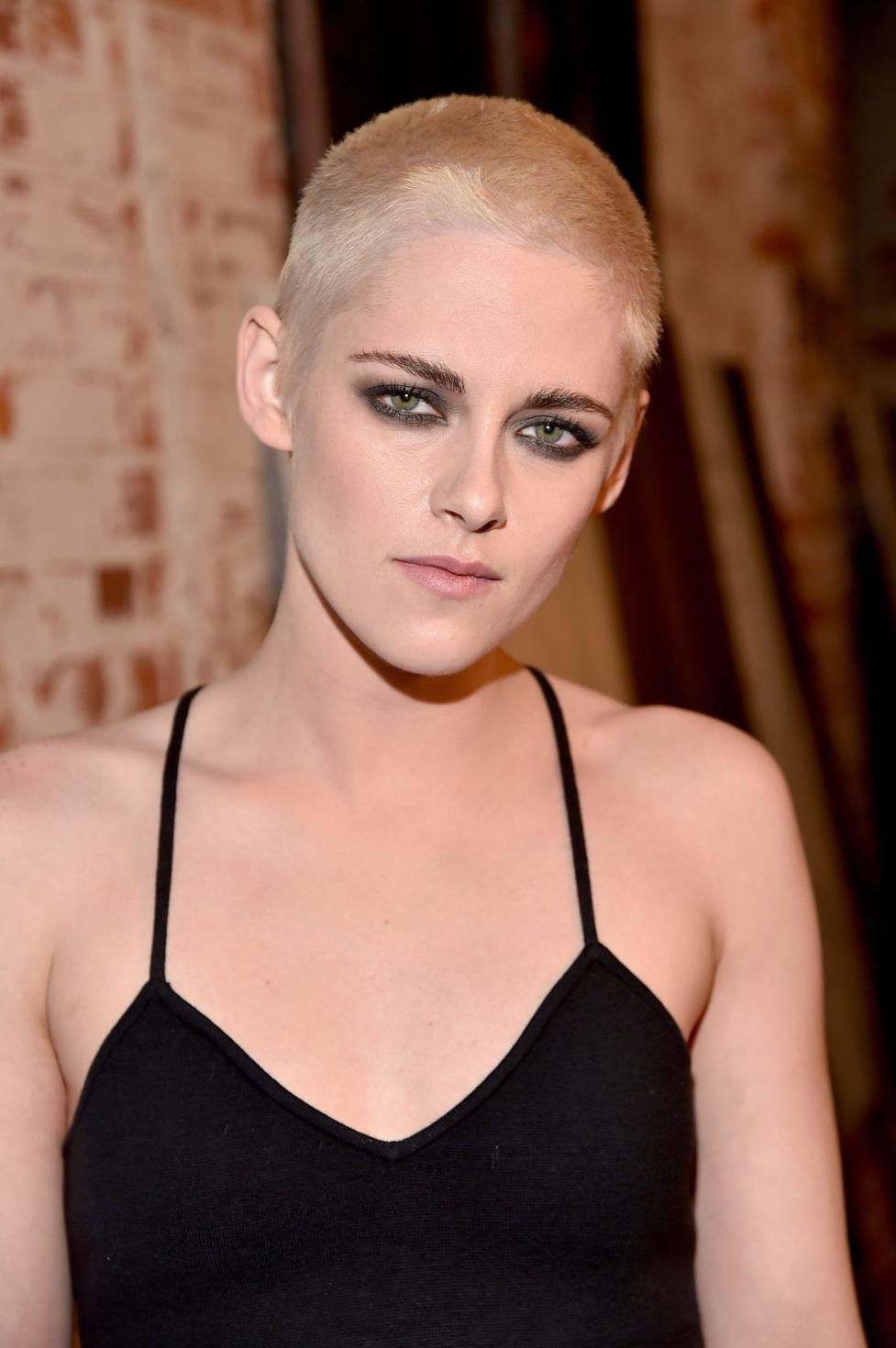"""Kristen Stewart debuted her new shaved look last week, and said of the dramatic cut, """"""""It's practical... [in upcoming move 'Underwater'] I'm not going to be able to have touch-ups once they put the helmet on my head."""""""