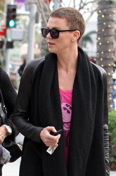 For her role as Furiosa in Mad Max, Charlize also went for a buzz cut