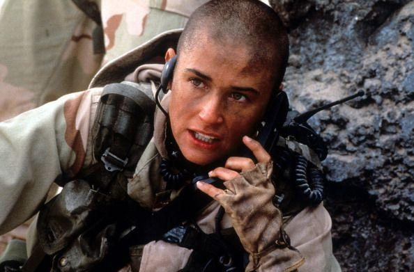 Like Natalie, Demi Moore shaved her head for a role, for GI Jane in 1997